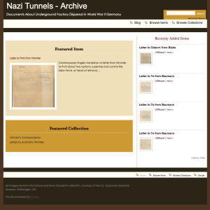 First, go to the archive home page: http://nazitunnels.org/archive/