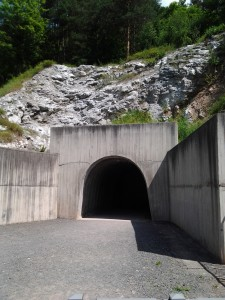 The current entrance to the tunnel, dug in the 1960s.