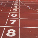 http://commons.wikimedia.org/wiki/File:Athletics_tracks_finish_line.jpg